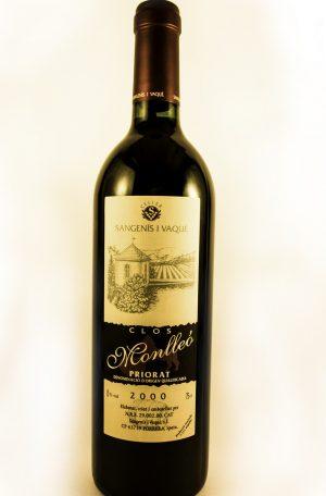 Vino Priorat Sangenís Vaqué Clos Monlleó 2000