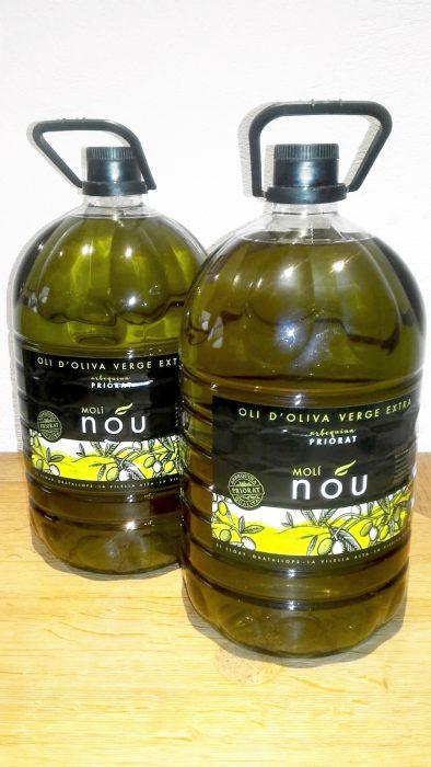 Oli d'oliva verge extra arbequina moli nou